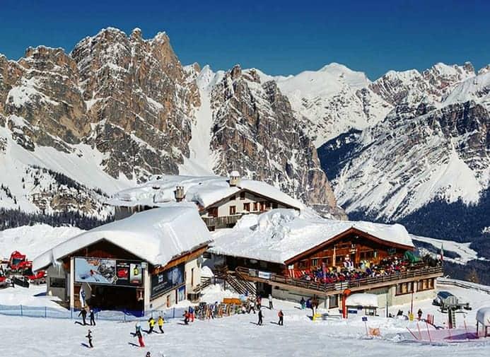אתרי סקי בדולומיטים
