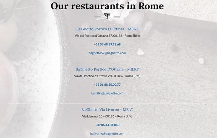 לאכול בסעדות כשרות באיטליה