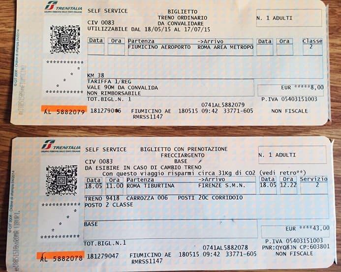 לקנות כרטיס לרכבת איטליה