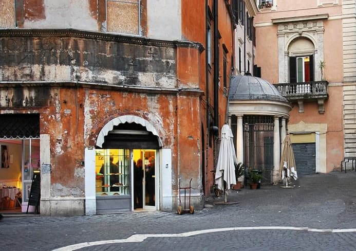 בית קפה כשר ברובע היהודי ברומא
