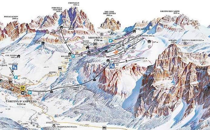 אתרי סקי בקורטינה ד'אמפצו
