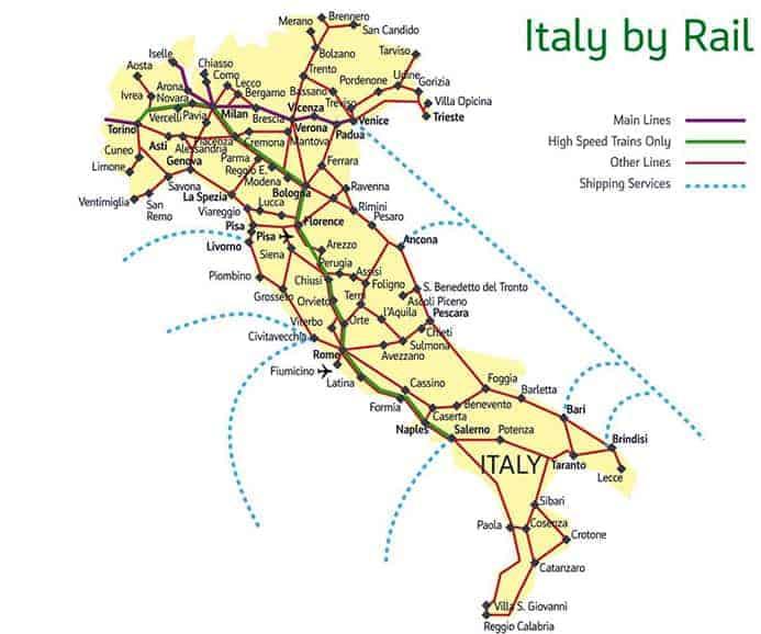 רכבות באיטליה