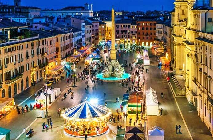 שווקים גדולים בחג המולד באיטליה