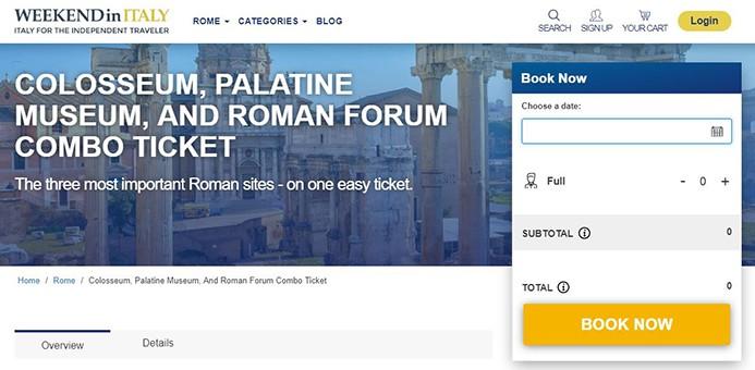 איך לקנות כרטיסים לקולוסיאום