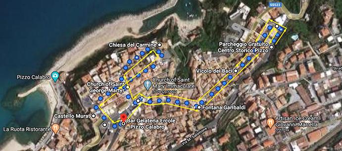 מסלול הליכה בעיירה בדרום איטליה