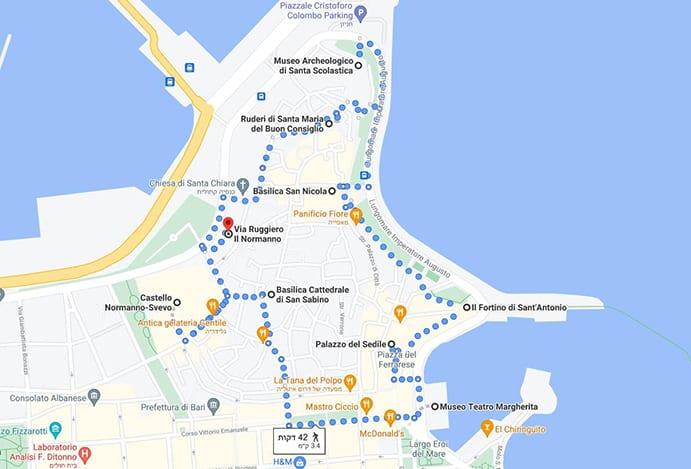 מפת טיול בבארי